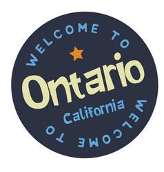 Welcome to ontario california vector