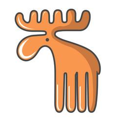 Wild elk icon cartoon style vector