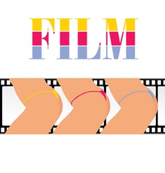 Woman ass with film track vector