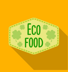 eco-food icon in flat style isolated on white vector image vector image