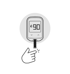 Glucometer isolated diabetes vector image