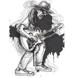 Musician - Guitar Player vector image