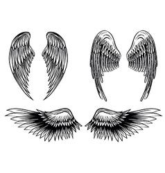 wings set 6 vector image