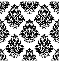 Damask style bold arabesque seamless pattern vector image vector image