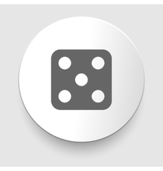 one dices - side with 5 vector image