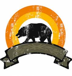 bear grunge rainbow vector image vector image