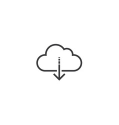 download icon line style vector image