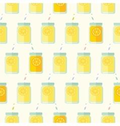Flat seamless pattern with mason jar vector image vector image