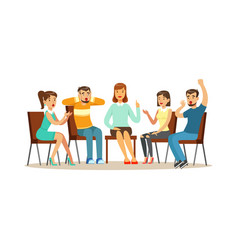 support group therapy psychologist counseling vector image