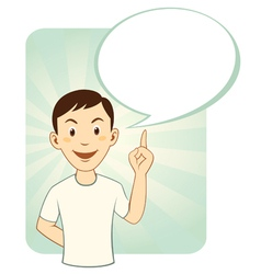 Cartoon Man With Speech Bubble vector image vector image