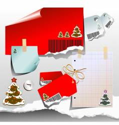 Christmas tags and notes vector image vector image