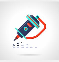 industrial engraver flat color icon vector image