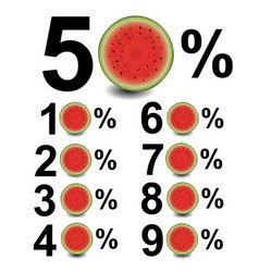 percent with water melon vector image