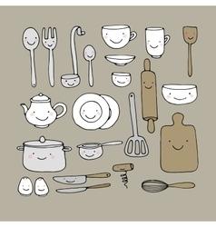 A set of kitchen utensils vector
