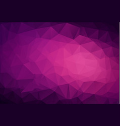 abstract dark purple pink low poly crystal vector image