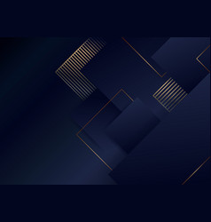 Abstract luxury template elegant blue and gold vector