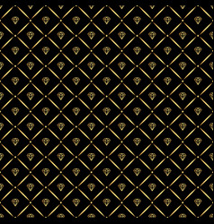 abstract seamless pattern with golden diamonds vector image