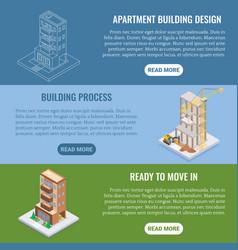 Apartment construction flat isometric vector