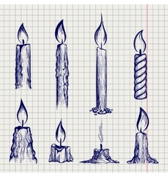 Ball ben sketch of candles vector image