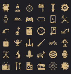 Battery icons set simple style vector