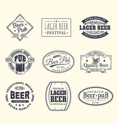 Beer labels and stickers beermat and coaster vector