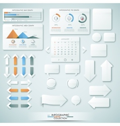 Big Infographic Collection vector image