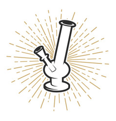 Bong icon on white background vector