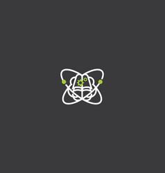 brain intelligence logo icon vector image