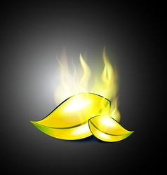 Burning leaf vector