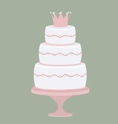 Cake for a princess vector image
