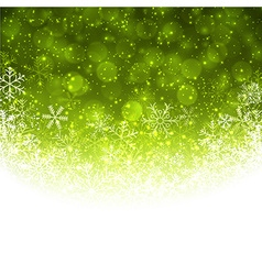 Christmas green abstract background vector image