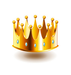 classic crown isolated on white vector image vector image