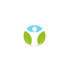 Creative leaf body logo symbol vector
