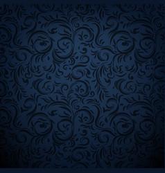 dark ornamental background vector image