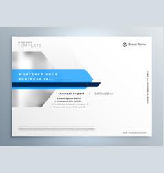 Elegant blue modern business presentation vector