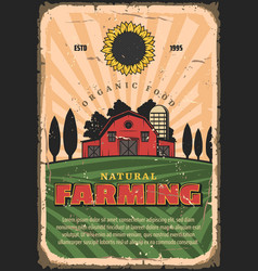Farming agriculture and organic food vector