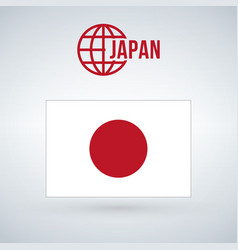 flag of japan isolated on white background vector image