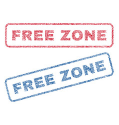 Free zone textile stamps vector