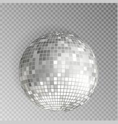 glitter disco ball silver mirrorball isola vector image