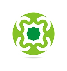 Green arch element design abstract icon vector