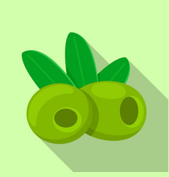 green olives food icon flat style vector image