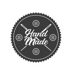 Hand made design vector