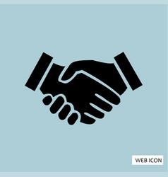 handshake icon handshake icon eps10 handshake vector image