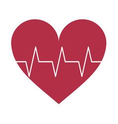 heartbeat medical symbol vector image