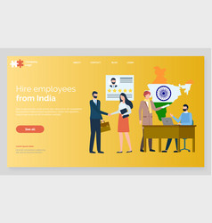Hire employees from india meeting interview web vector