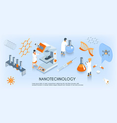 Isometric nanotechnology horizontal composition vector