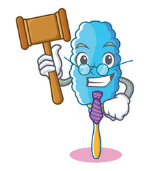 Judge feather duster character cartoon vector