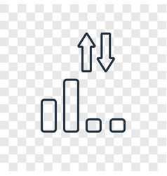 low linear icon isolated on transparent vector image