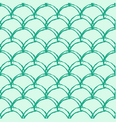 mermaid tail seamless pattern vector image
