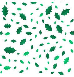 mistletoe christmas tree leaves seamless pattern vector image